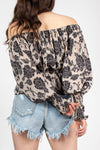 Lace Floral Off Shoulder Top