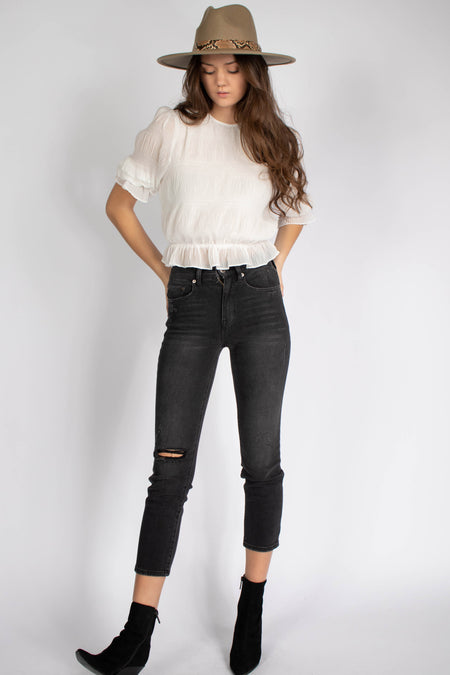 All About Pearls Cropped Top