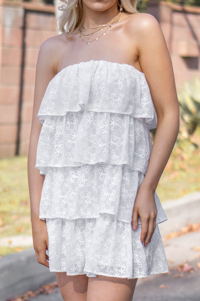 By The Beach Ruffle Dress