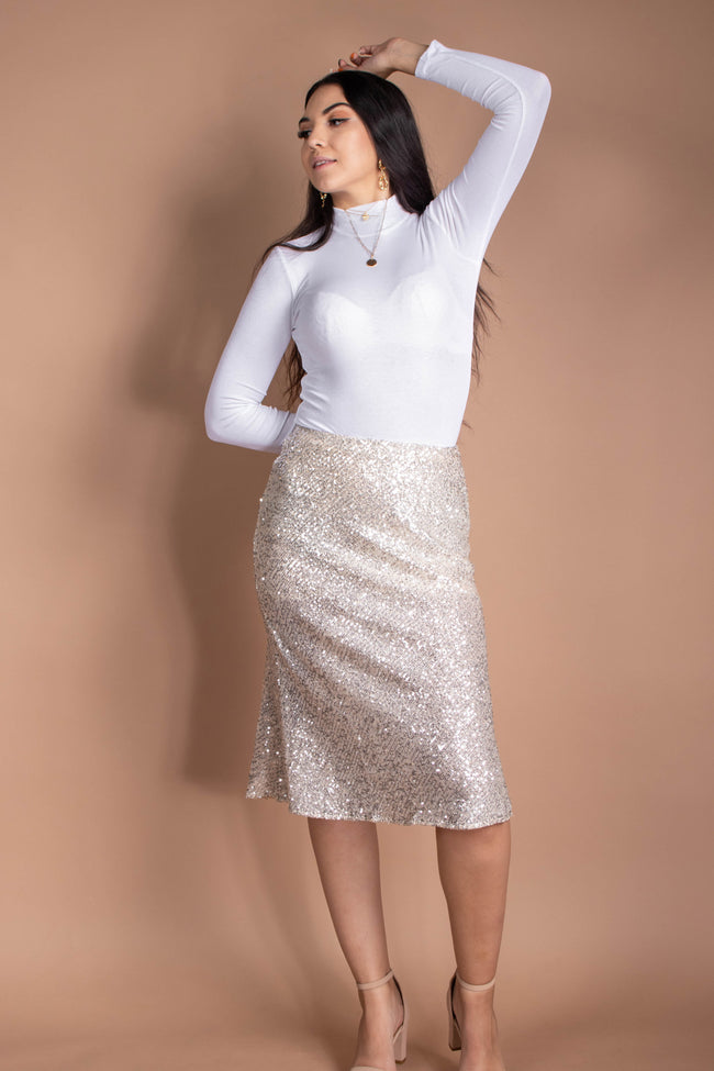 Into The Night Sequins Skirt
