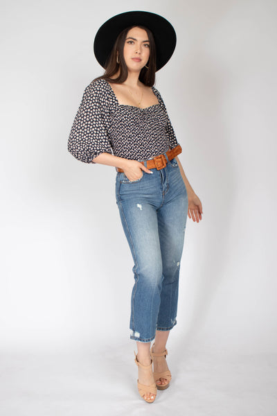 Jane Smocked Cinched Top