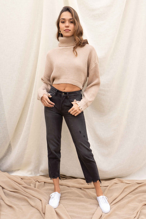 Sadie Turtleneck Tie Sweater