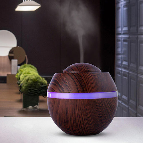 500ml USB Air Aroma Humidifier Ultrasonic LED 7 Color Changing Essential Oil Dif