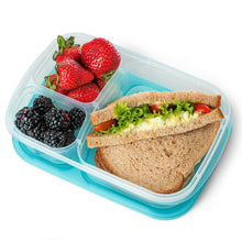 Load image into Gallery viewer, Lunch Container 3-Comparment Reusable Plastic Bento Lunch Box