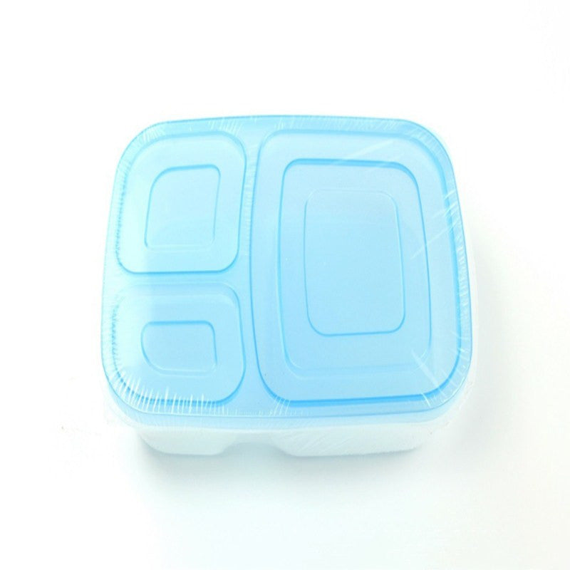 Lunch Container 3-Comparment Reusable Plastic Bento Lunch Box