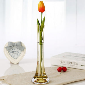 new fashion multi-color glass vase handmade blown for Home Decoration 25cm height