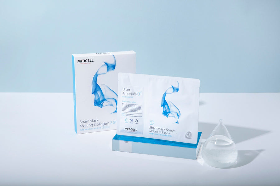 Mercell Sharr Mask Sheet Melting Collagen 1 box (5 ea) (4392622063669)
