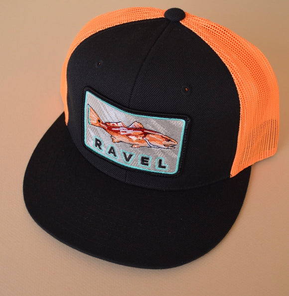 Neon Redfish Ravel Hat