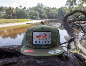 Camo Redfish Ravel Hat