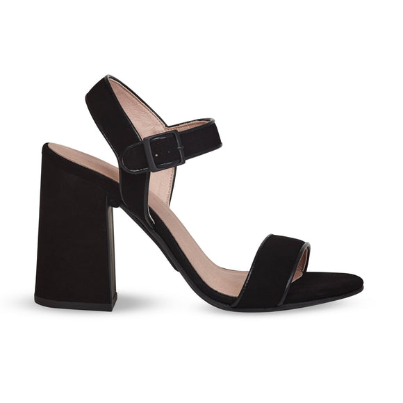 Black sandals With Removable Heel