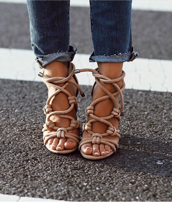 Nude Strap Sandals