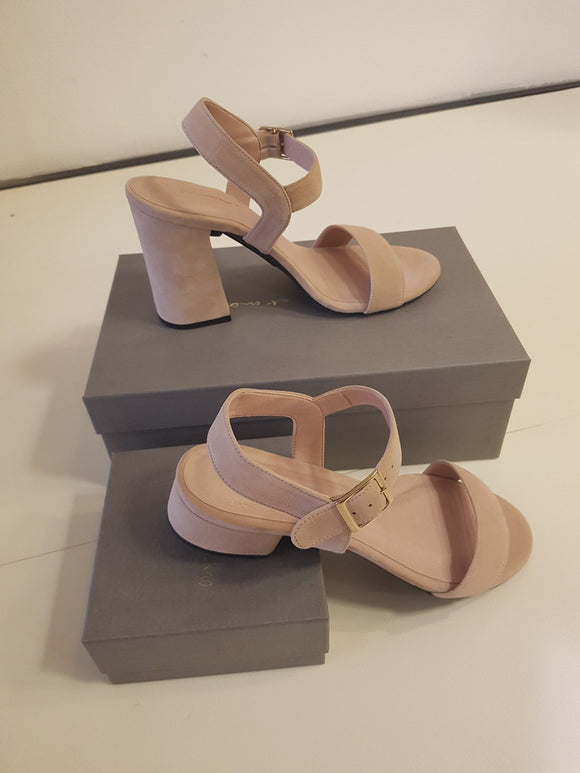 Nude Sandals With Removable Heels