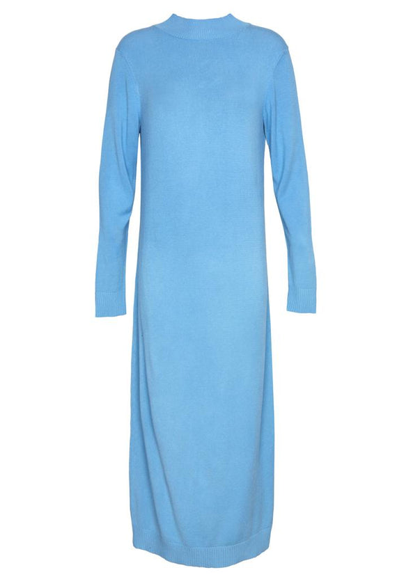 Maxi knitdress bright blue