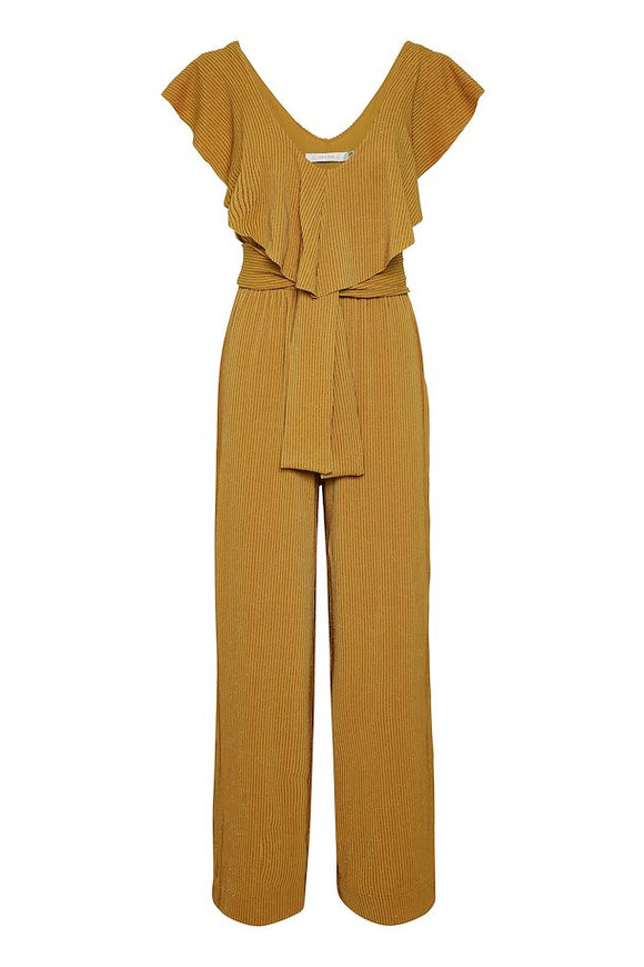 Gold stretch jumpsuit