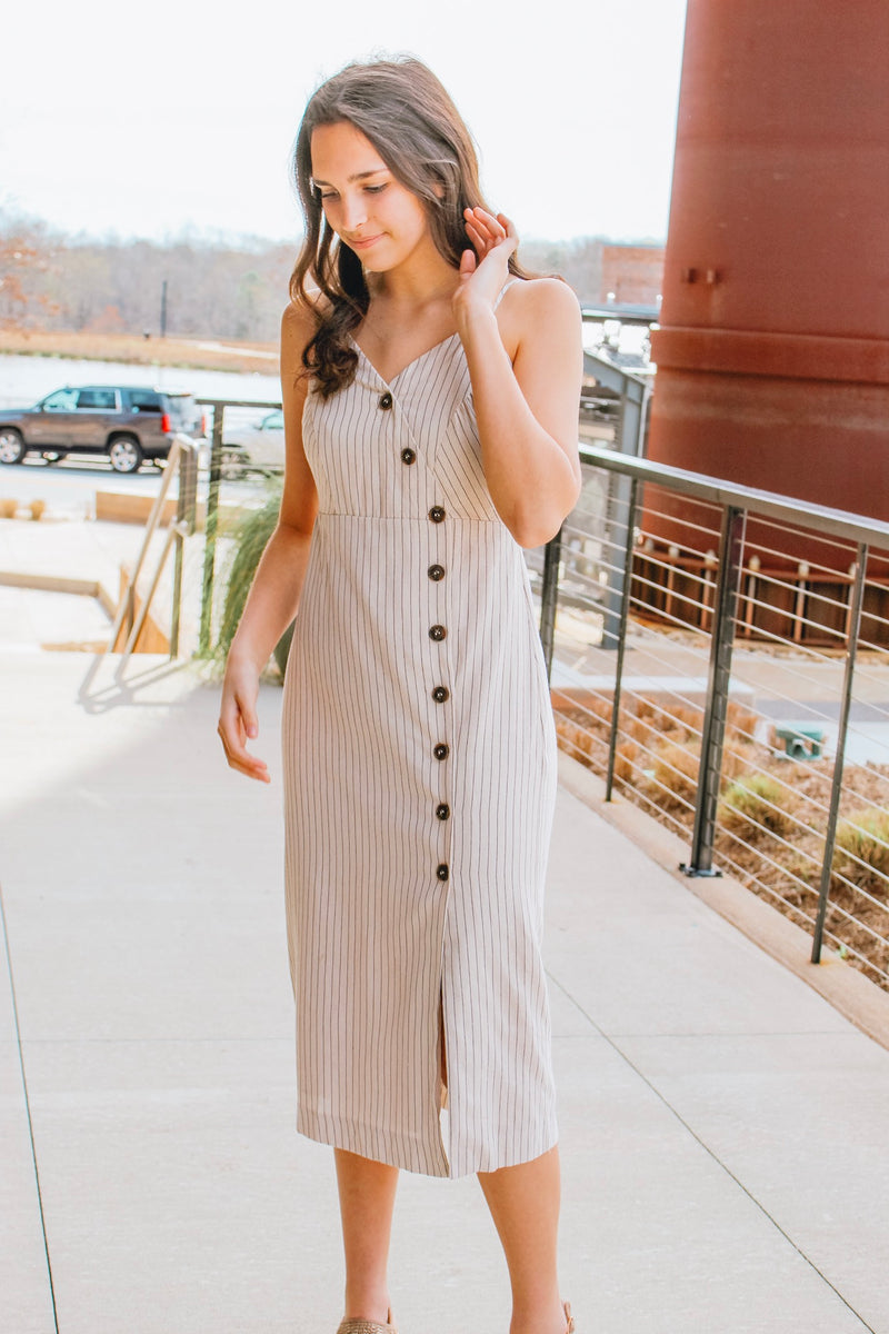 NOTHING BUTTON LOVE DRESS