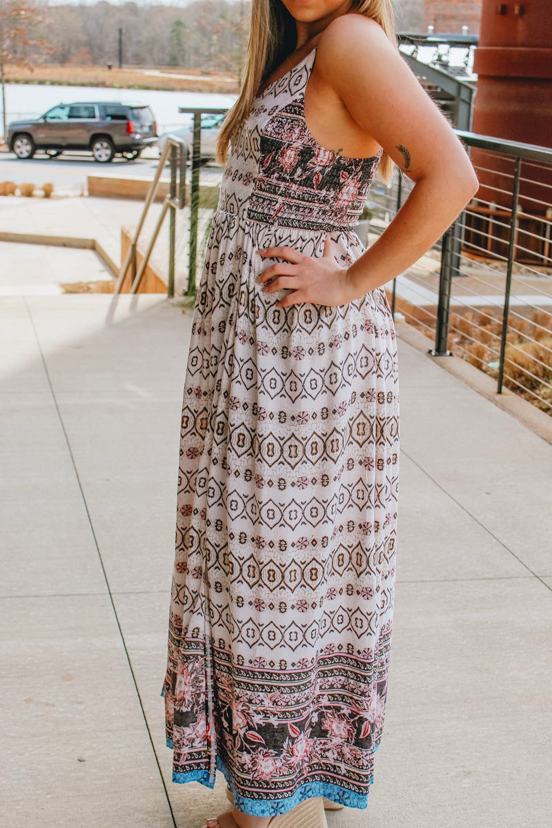 MOROCCAN AND ROLLIN MAXI DRESS