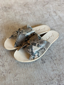 FREE PEOPLE - RIO VISTA SLIDE SANDAL - BROWN SNAKE
