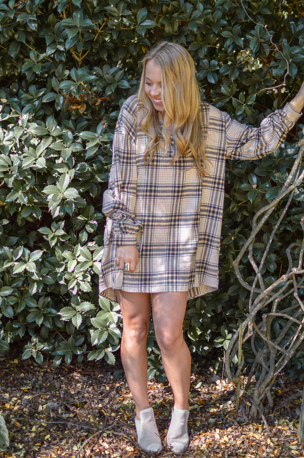 CHECK ON IT PLAID DRESS