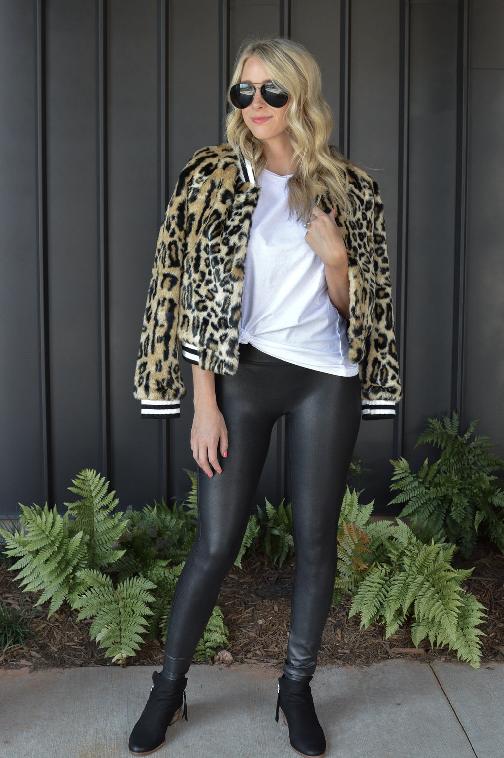 JACK BY BB DAKOTA LEOPARD BOMBER