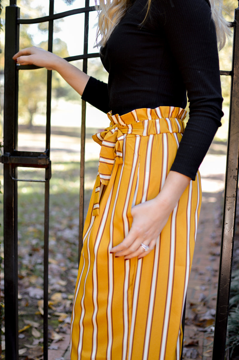 PLAY YOUR CARDS STRIPE PANT