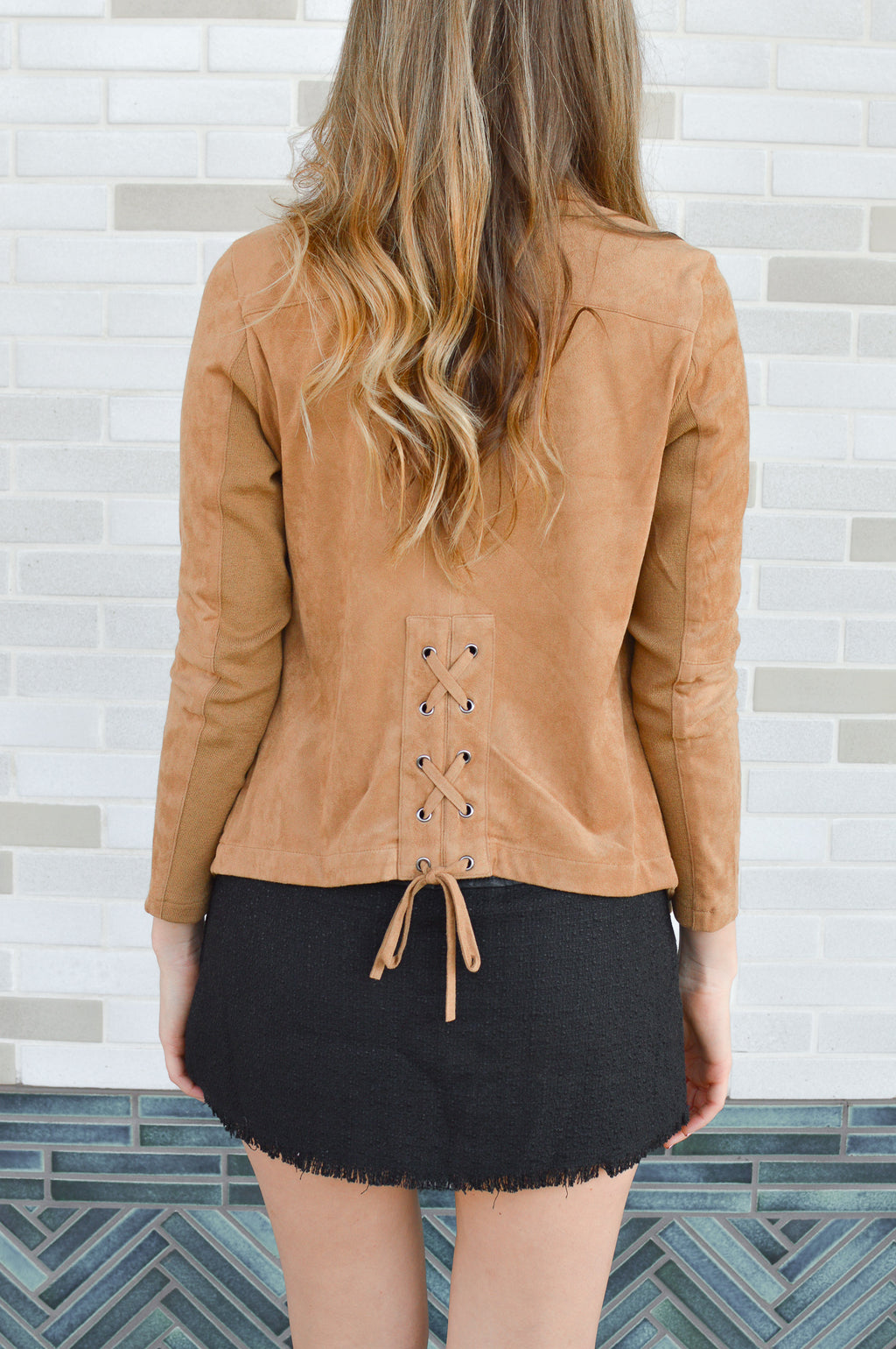 BB DAKOTA EARNED IT LACE UP BACK JACKET