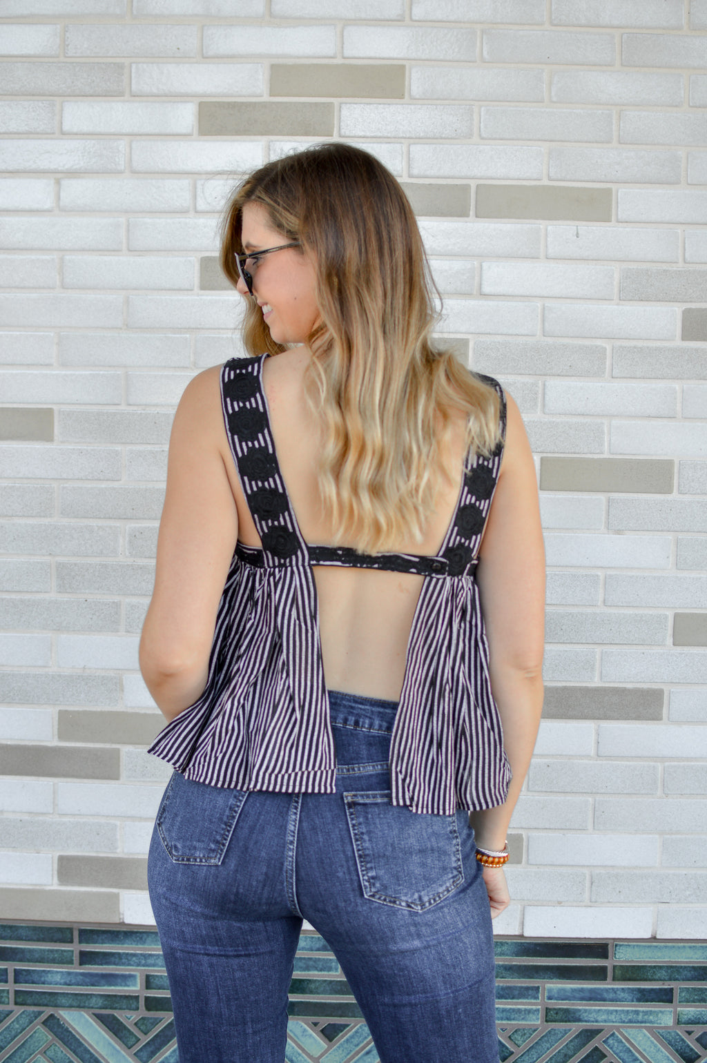 BYRON EMBROIDERED TANK