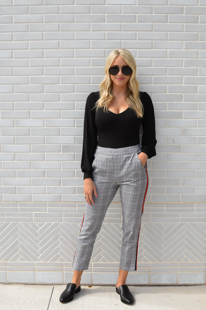 PLAID TO MEET YOU TROUSERS