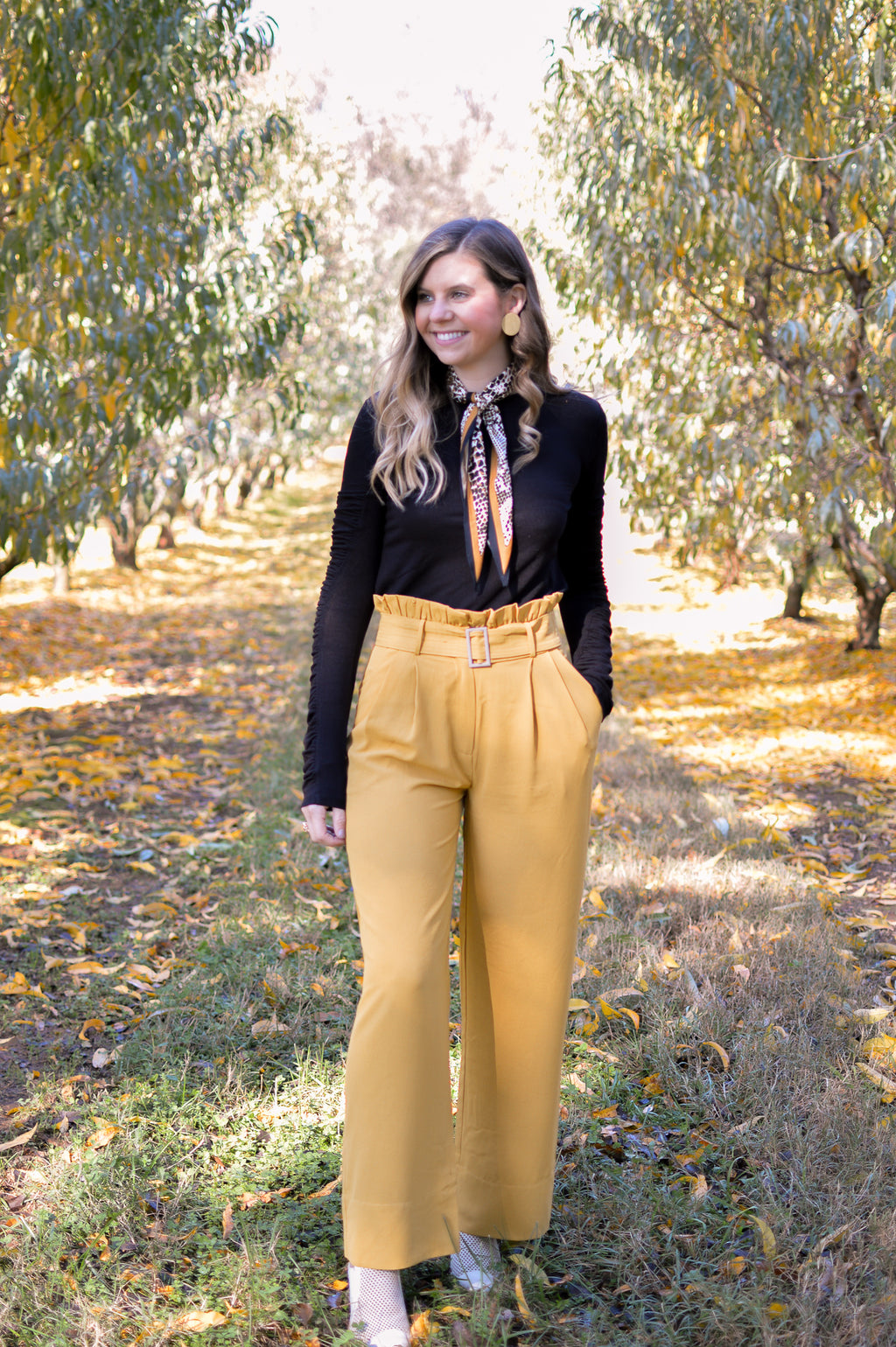 YELLOW IT'S ME BELTED PANT