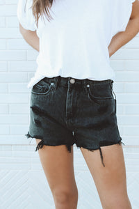 BLANK - THE BARROW - BLACK DENIM SHORTS