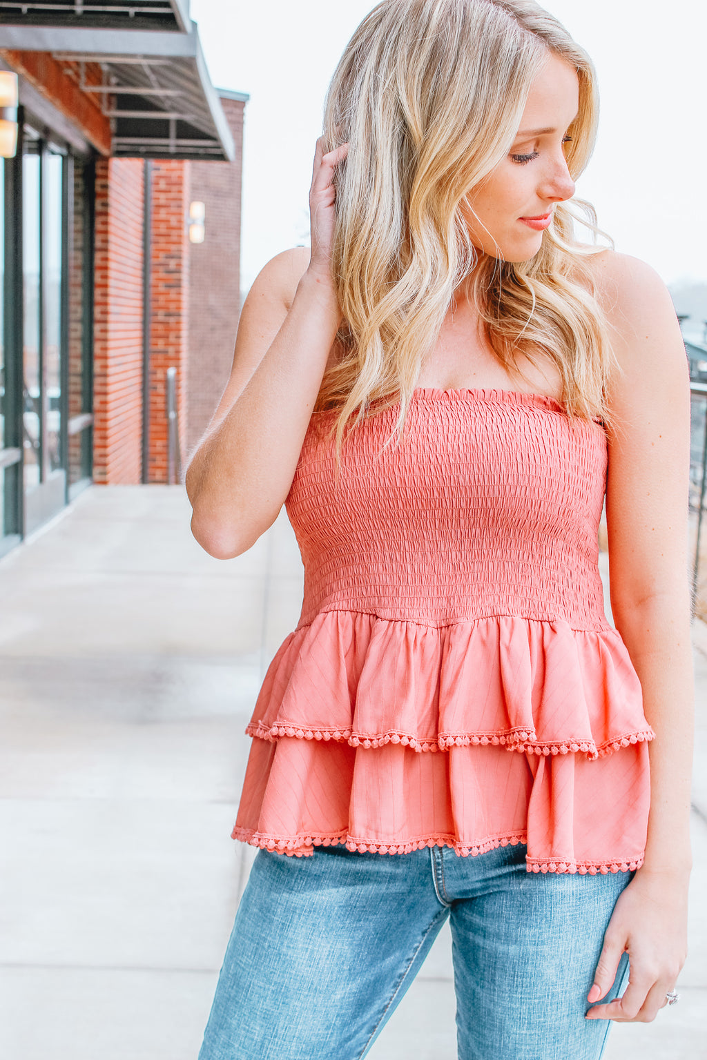 NO TIERS TO CRY RUFFLE TOP