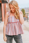 YOU'RE ADORA-BOW STRIPED TOP