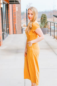 GOLDEN GIRL POLKA DOT JUMPSUIT