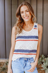 RED, STRIPES, & BLUE TANK