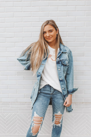 JUMP AROUND DENIM JACKET