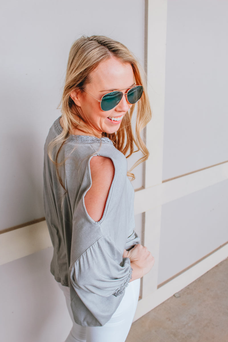 GIVE 'EM THE COLD SHOULDER TOP
