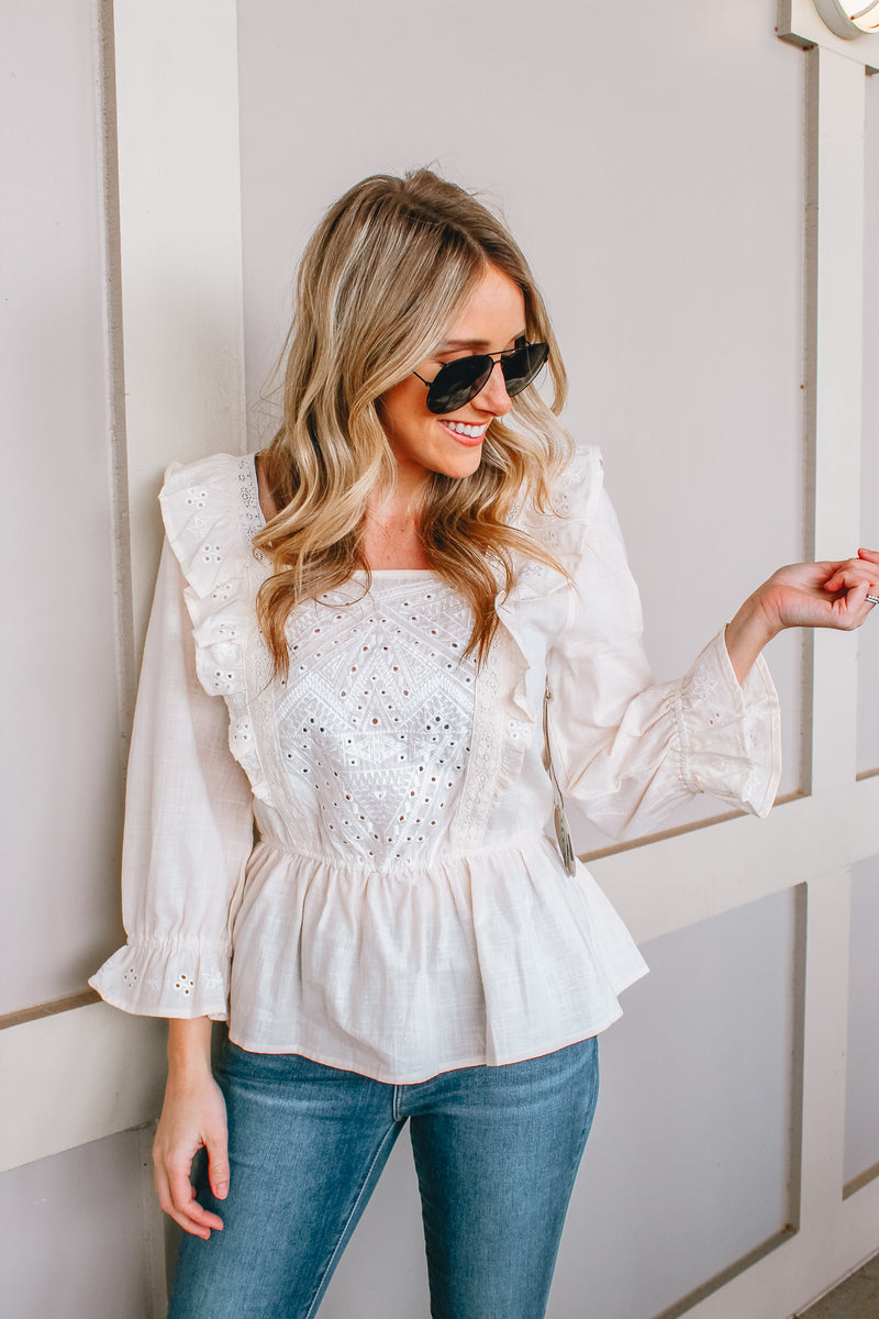 PRETTY PRETTY PEASANT TOP