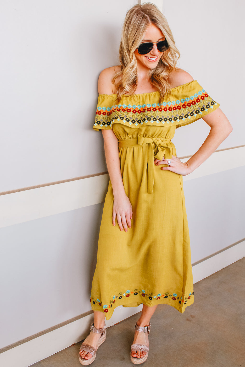LEMON LIME MIDI DRESS