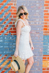 FREE PEOPLE LACE TO LOVERS MINI DRESS