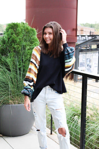 BRETON STRIPED PULLOVER - FREE PEOPLE