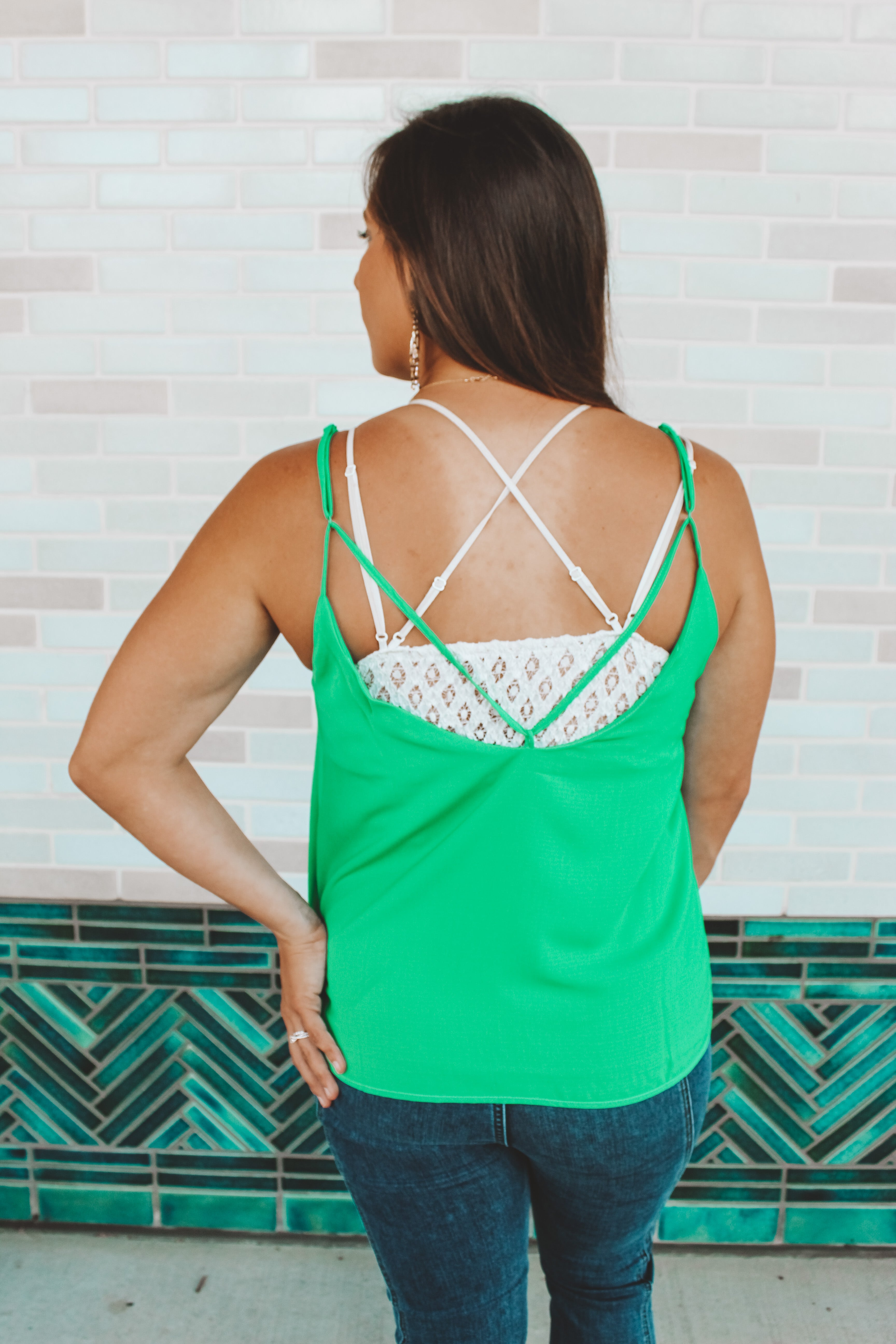 COOL MOVES TANK - KELLY GREEN
