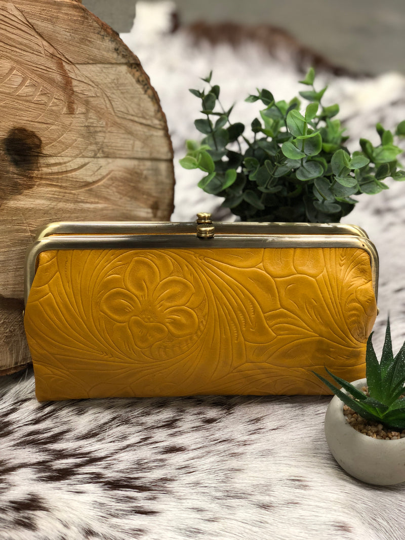 HOBO - LAUREN WALLET - EMBOSSED AMBER