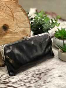 HOBO - LAUREN WALLET - BLACK