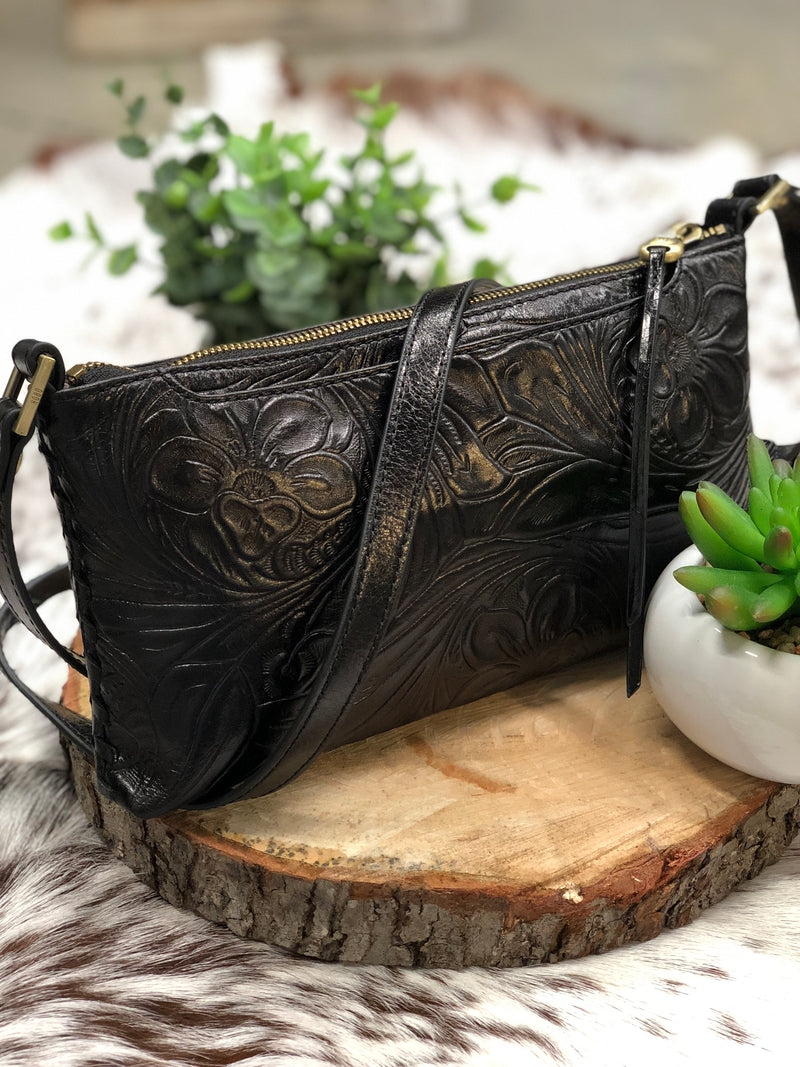 HOBO - RIFF CROSSBODY - EMBOSSED BLACK