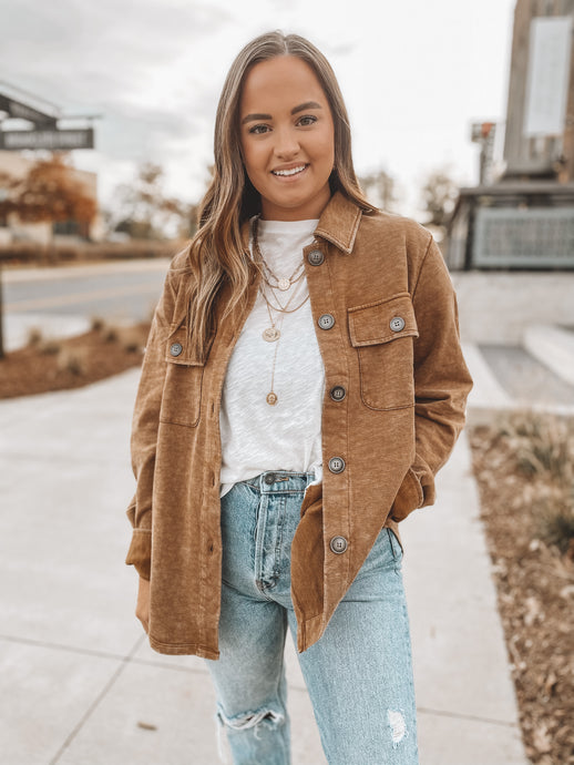 RUSTY BUTTON DOWN JACKET