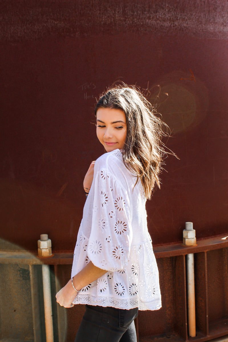FREE PEOPLE WILD FLOWER TOP