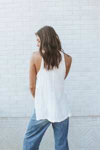 FREE PEOPLE - SOLID MAKING WAVES TANK - WHITE