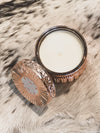 CAPRI BLUE CANDLE - 11 OZ GILDED ROSE GOLD FACETED JAR - PINK GRAPEFRUIT AND PROSECCO