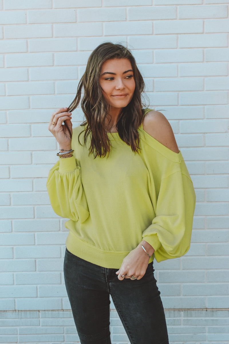FREE PEOPLE - LEMON SQUEEZE TOP