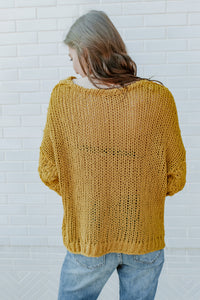 FREE PEOPLE - GOLD SHOW SWEATER