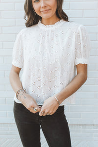FREE PEOPLE - IVORY ANGEL TOP